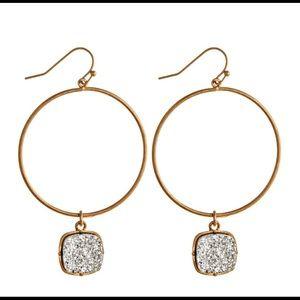 Druzy Circle Earrings